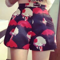 HQ 9280 Girl Print Shorts (BLACK) @SALE