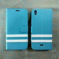 [blue] Leather Case For Infinix Hot Note X551