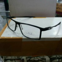 frame kacamata baca merek oakley deviation alloy full black