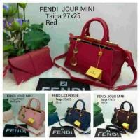 Tas Fendi set pouch IMPORT red, pink, black, blue