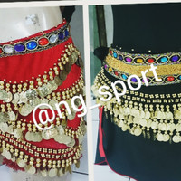 belly dance | belt | triple gold coins