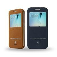 Baseus Samsung Galaxy S6 Edge Terse Leather Flip Case - Original