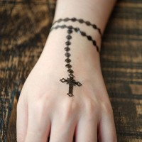 ROSARY - Temporary Tattoo Import