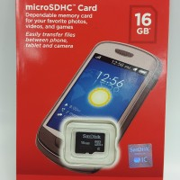 harga Micro Sd Sandisk 16gb /memory Card Microsd 16 Gb Sdhc Class 4 Original Tokopedia.com
