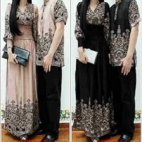 baju couple sepasang batik dress gaun maxi kemeja shalome fit to L