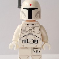 Lego Minifigure Boba Fett White Exclusive Minifigure Star Wars