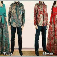 Busana Muslim Batik Couple Baletto Original AL Fashion