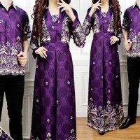 baju couple batik amel ungu