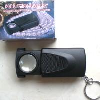 harga Kaca Pembesar Magnifier Zoom 45X dgn Lampu LED Terang yg bisa menyala otomatis utk Batu Permata Cincin Jewellery Loupe Mikroskop Tokopedia.com