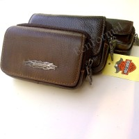 Dompet Handphone Kulit Asli Tempat HP Cash smartphone Harley davidson