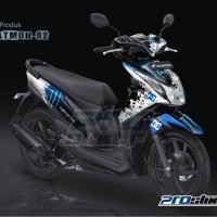 harga Jual Striping Honda Beat Fi Motif Racing Monster Energy - Prostiker Tokopedia.com