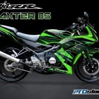 Jual Striping Modif Ninja 150 RR New Motif Grafis DAXTER - PROSTIKER