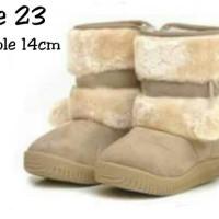 Walker Boot Cream/Beige Size 23 Outsole 14cm
