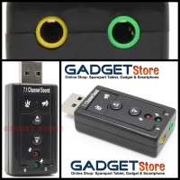 Sound Card USB 2.0 to Virtual 7.1 Channel Audio Adapter with CM108