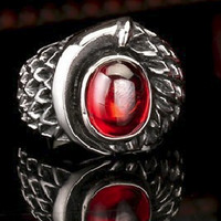 harga Luxuriouz Titanium Ruby Dragon Skin Ring / Cincin Titanium Tokopedia.com