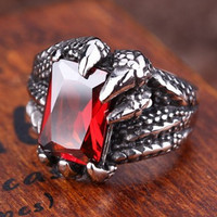 harga Luxuriouz Titanium Ruby Dragon Claw Ring / Cincin Titanium Tokopedia.com