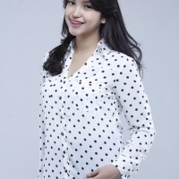 Kemeja Wanita Polka Dot Portofino Shirt by Express [1120001]