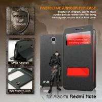 Xiaomi Redmi Note Zineq Window Leather Flip Case Flipcase Cover Hitam