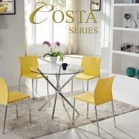 Meja Makan Costa dan 4 Kursi Makan AC 509