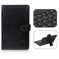 "FREE STYLUS PEN !! Leather Case Keyboard Tablet PC Universal 7"" Inch"