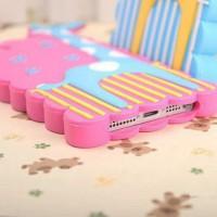 harga Silicone Case Iphone 5/5s 3d Giraffe Purple Tokopedia.com