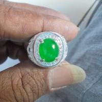 harga batu cincin ijo lumut ring perak china putih Tokopedia.com