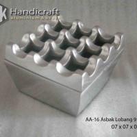 Asbak kotak lobang 9 aluminium