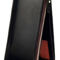 Sanwood Men's Leather Wallet - Hitam
