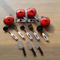(13pcs) Alat Peralatan Masak Mainan Anak Panci Kompor Kitchen Set