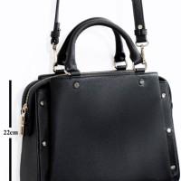 Tas Zara Black Studded Office City Bag