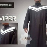 Jubah Viper Dark Brown-Broken White