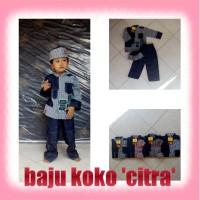 Set Baju Koko Anak + Kopyah (Peci)