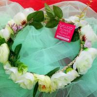 Whiteroses Flower Crown / Whiteroses Floral Headband / Bando bunga