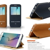 Baseus Terse Leather View Flip Cover Case Samsung Galaxy S6 Edge