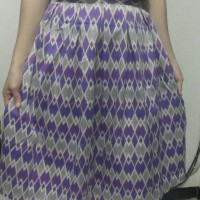 Jual Rok Batik/ skirt rang rang ungu Murah