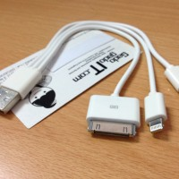 Cable/Kabel 4 in 1 USB To Micro USB, iPhone 4, iPhone 5/6, Samsung TAB