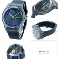 Jam Tangan SWATCH ORIGINAL 100% SUON700 BLUE REBEL_green & blue