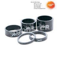 2 Pcs Spacer Carbon Deda 1 1/8 inch 15 mm Black