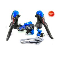 Shifter Rd Fd microSHIFT ARSIS Blue Carbon