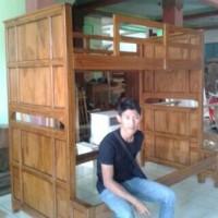 ranjang / tempat tidur anak model susun / tingkat kayu jati