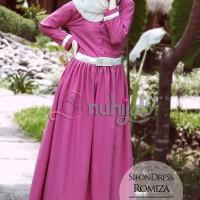 Gamis  Nuhijab Sifon Dress Ramiza (sdr) - Pink