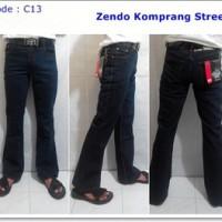 Jual Celana Jeans Cutbray Cowok | Street Komprang | Navy | Zendo | C13 Murah