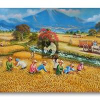 harga Lukisan Panen Padi Tokopedia.com