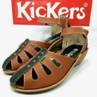 Sepatu Sandal Kickers Kombinasi Wanita