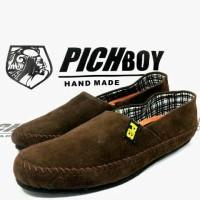 Sepatu Pichboy Slop Slip on coklat