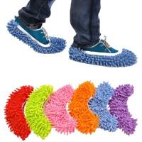 (1set=2pcs) Alat Pel Lantai Bentuk Sepatu Microfiber Micro Fiber Lap