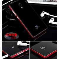 Tempered Glass Back Case Cover Xiaomi Redmi 1s Aluminium Bumper Casing