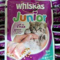 harga Makanan Kucing Whiskas Junior Pouch Tuna 85 gram Tokopedia.com