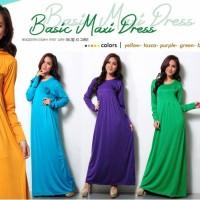 PROMO Basic Maxi Dress Gamis Bahan Jersey