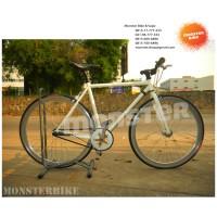 Full Bike Eighthinch Scrambler V3 53cm White + IGH Sturmey Archer SRC